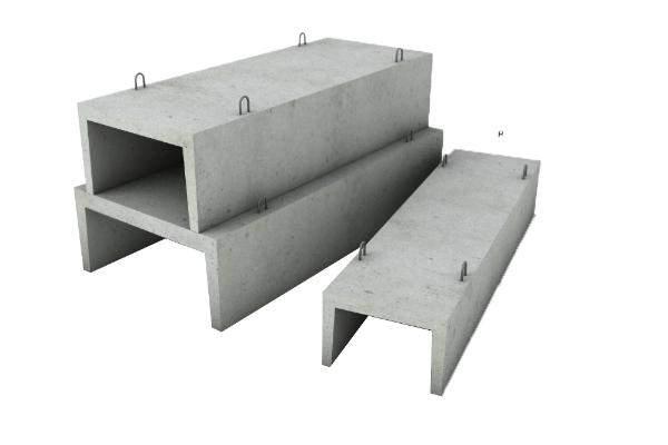 Укрепленные бетонными желобами